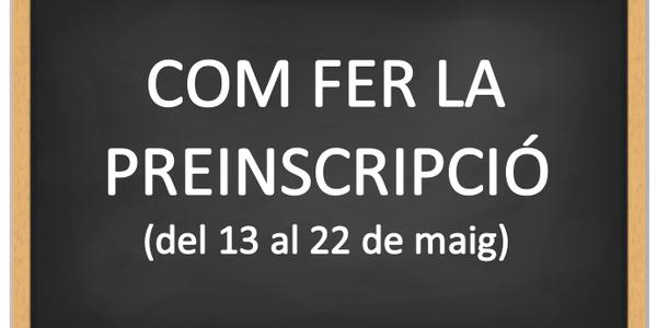 PREINSCRIPCIÓ ESCOLA BLANCA DE VILLALONGA CURS 2020-2021