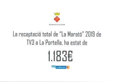 """Recaptació """"La marató"""" a La Portella"""