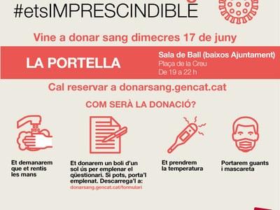 VINE A DONAR SANG DIMECRES 17 DE JUNY